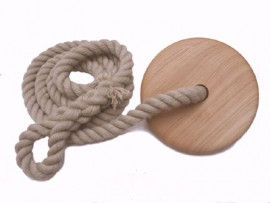 Hand Made Single Rope reclaimed hardwood Swing Gift under £100